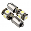 BA9S / H6W 5SMD Stadslicht CAN-BUS LED set