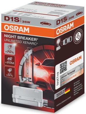 Osram Xenarc Night Breaker D1S Xenon Lamp (66140NXB)