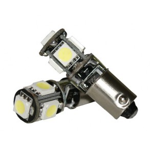 BAX9S 5-SMD CAN-BUS Bajonet LED